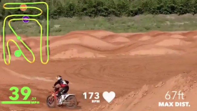 Video: Webb's supercross lap with heart-rate monitor