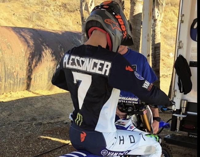 Plessinger's new 450 look – takes Stewart's number!