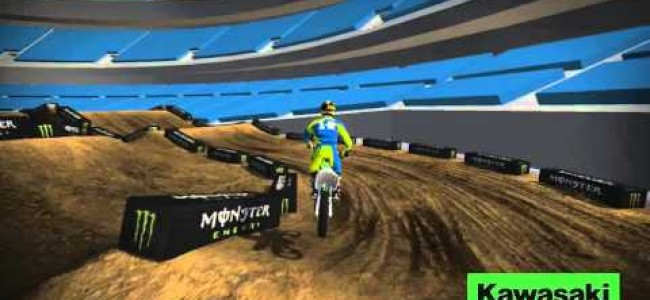 Video: Oakland SX track map