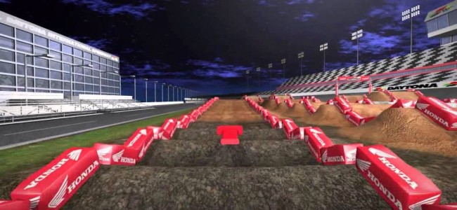 Video: Daytona SX track map