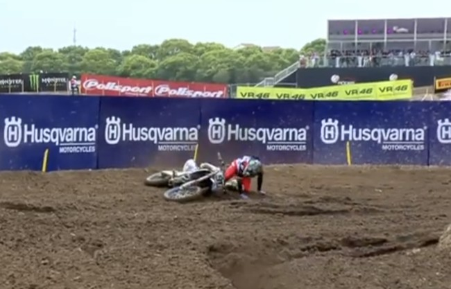 Video: Seewer crash battling for lead with Coldenhoff