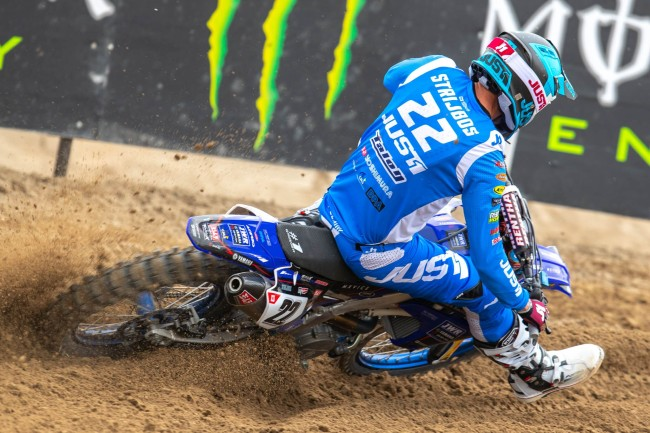 Strijbos on his first GP for JWR Yamaha