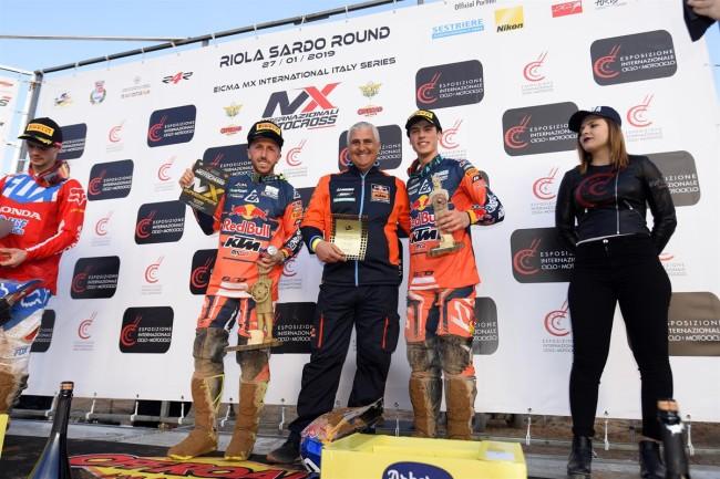 Cairoli and Prado on winning the opening motocross of the year!