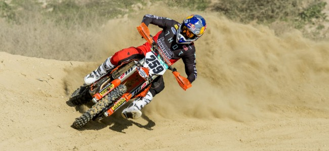 Coldenhoff IN for Hawkstone International – on his Gas Gas