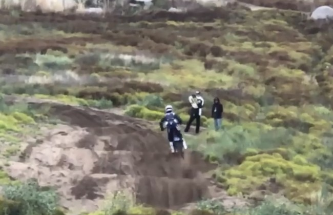 """Video: Ferrandis practicing at the California """"Lommel"""""""