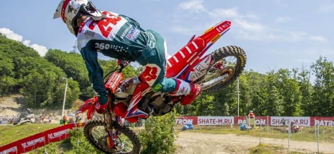 Video: Tim Gajser high speed crash in Latvia