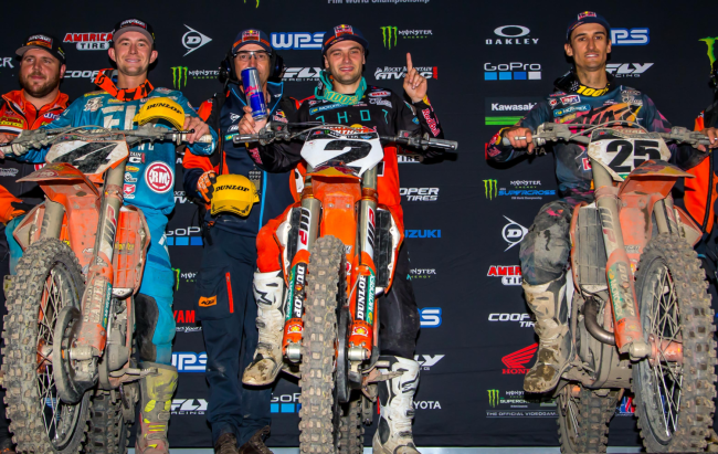 Webb and Musquin on their Oakland SX 1-2