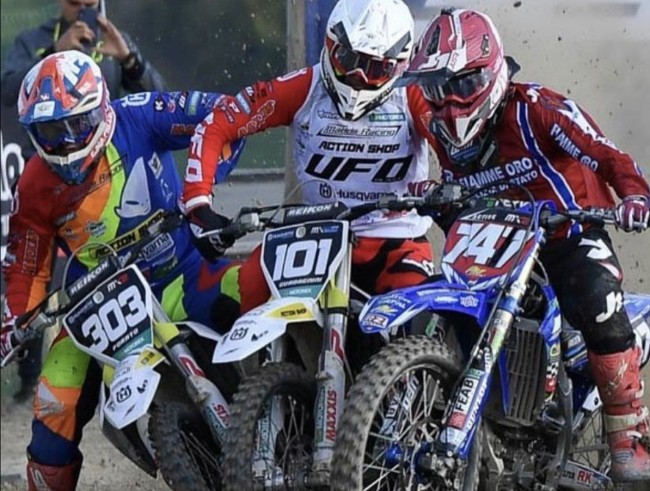 Video: Just racing or over the line? Cervellin v Guadagnini!