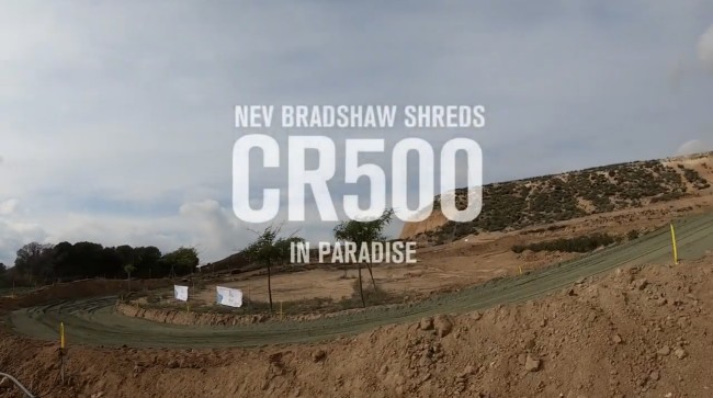 Video: Bradshaw in motocross paradise!