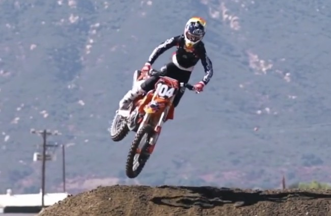Video: Moreau on the TLD KTM – style!
