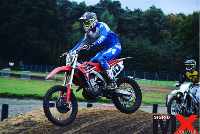 Strijbos putting the laps in on a Honda