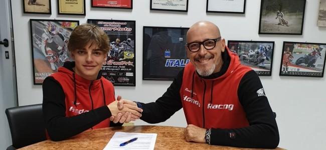 Assomotor Honda sign up EMX250 rider