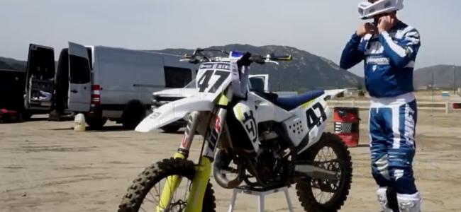 Video: Jeff Emig on a Husqvarna TC150 two stroke