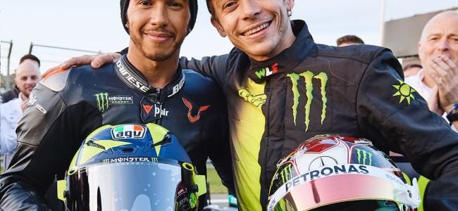Video: Rossi vs Hamilton MotoGP and F1 Swap