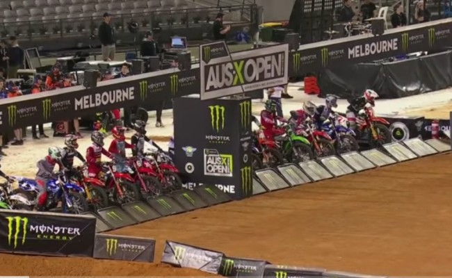 Video: Melbourne supercross 250 main events