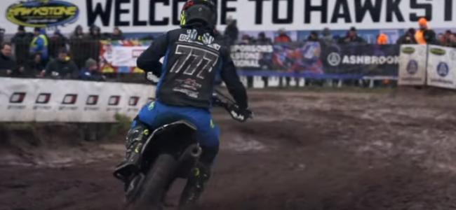 Video: Evgeny Bobryshev takes on the very wet Hawkstone International