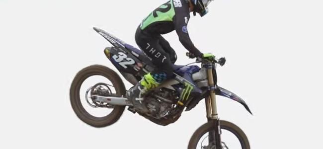 Video: Star racing Yamaha testing outdoors
