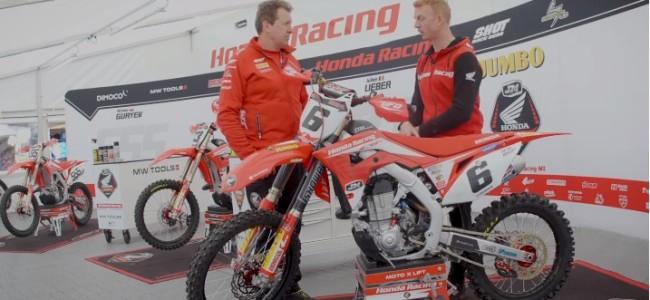 Gordon Crockard talks with Jacky Martens – Honda CRF450R