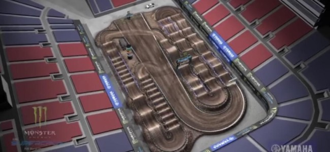Supercross track map – Salt Lake City round 11