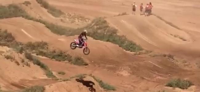 Video: Honda supercross test track – Brayton and Roczen