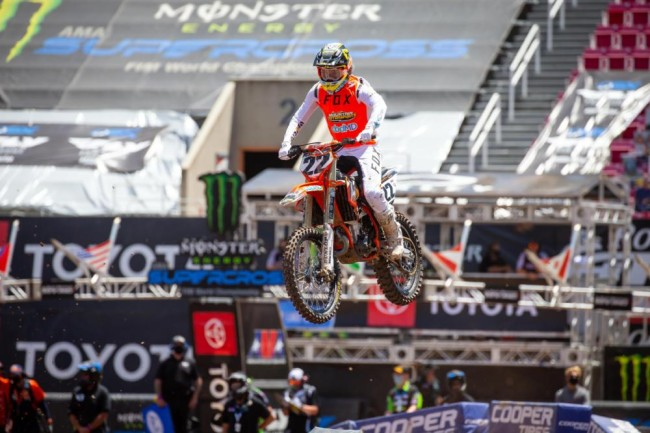 Chad Reed on his first race on KTM