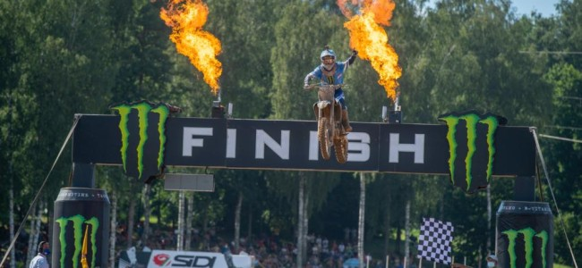Geerts and Watson on their Latvian MXGP