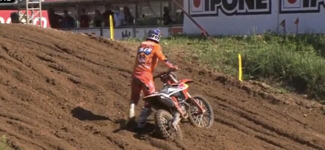 Video: Herlings qualifying crash