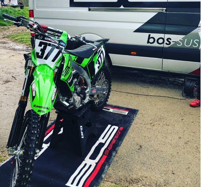 Christophe Pourcel tests BOS Kawasaki