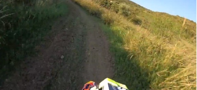 Video: Antonio Cairoli rides a two stroke at his home track
