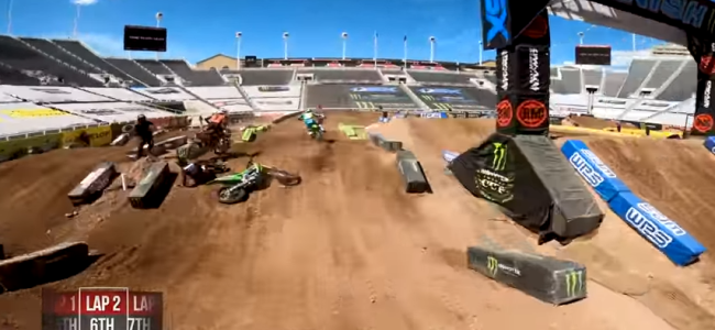 Video GoPro: Ken Roczen 450SX Main – RD11 Salt Lake City