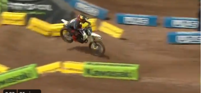 Video: Big crash for Zach Osborne during SLC7 Q2