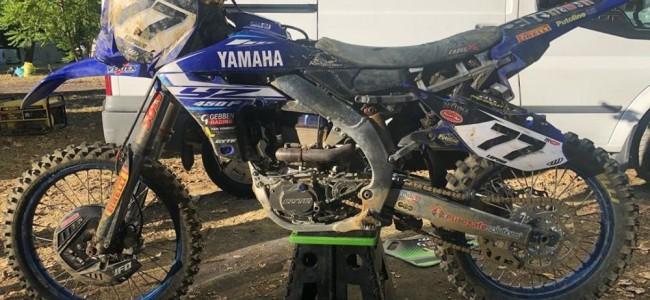 Alessandro Lupino's damaged Yamaha after Faenza crash