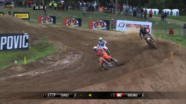Video: Three way MXGP battle ft Herlings, Cairoli and Jasikonis