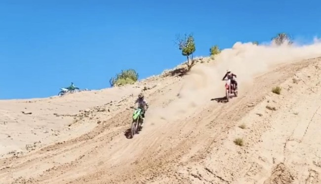 Video: Hughes rides with Tomac
