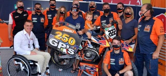 250 Grand Prix's for Antonio Cairoli