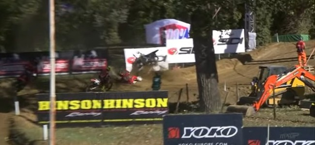 Video: Gautier Paulin's big crash at Faenza