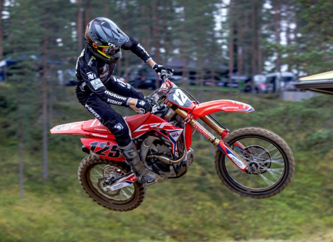 Video: Double EMX150 champion Emil Weckman back with Honda