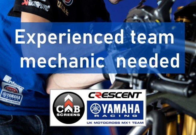 Cab Screens Yamaha on the look out for an experienced mechanic