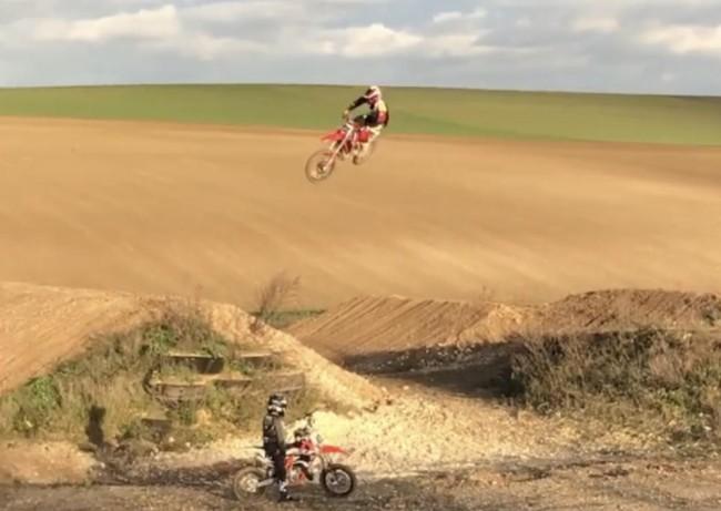 Video: Mickael Pichon can still ride supercross!