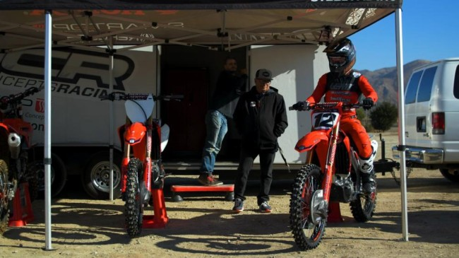 First look: Shane McElrath on the MotoConcepts 450cc Honda