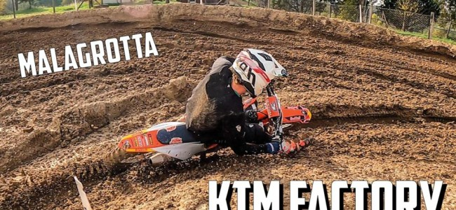 Video: Mattia Guadagnini – first ride on the Factory KTM!