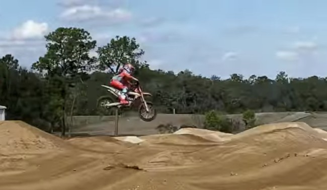 Video: Chad Reed back on a supercross track!