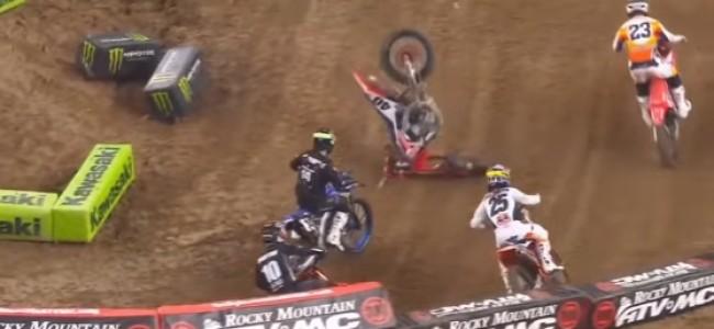 Video: Vince Friese heat race crash at Houston 2