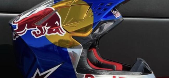 Jett Lawrence's trick Alpinestars helmet paint work