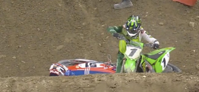 Video: Barcia and Tomac hit the deck at Indy 3