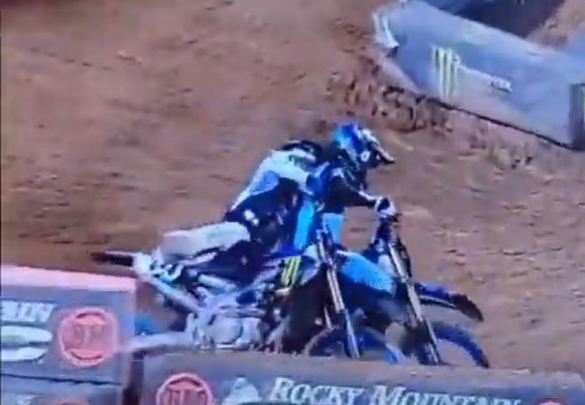 Video: Stewart takes out teammate Ferrandis!