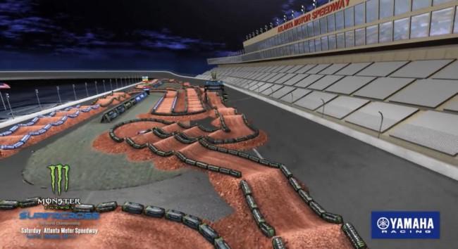 Video: Atlanta supercross Rd 13 track layout