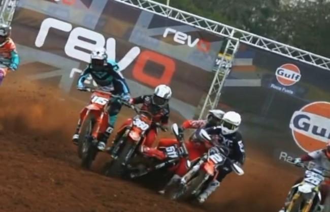 Video: MX2 start straight crash