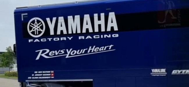 Factory Yamaha leave for the British GP – new truck!