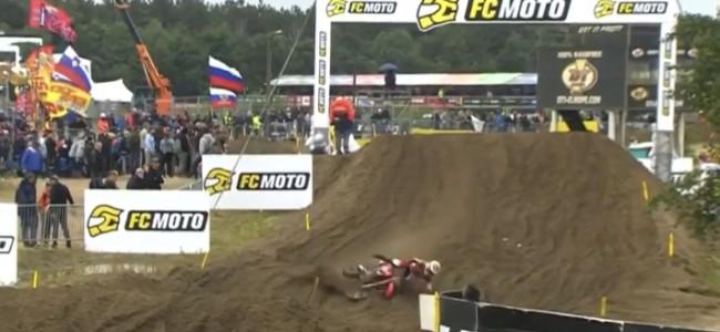 Video: Gajser's crash in Lommel during qualifying!